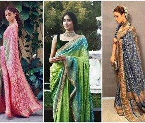 Photos: નતાશા-આલિયા-જ્હાન્વીએ એક જ સરખી સાડી પહેરી, તમે જ નક્કી કરો કોણ લાગે છે સુંદર