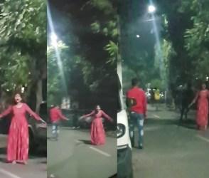 Video: સુરતમાં અડધી રાત્રે યુવતી બૂમો પાડી ઊંધા પગે દોડવા લાગી, બીકના મારે લોકો એકબીજા પહેલાં ભાગ્યા