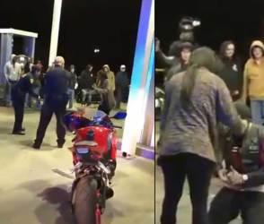 VIDEO: આવા આશિકો પણ જીવે છે, પોલીસની બંદુક સામે પ્રેમીએ પ્રેમિકાને કહ્યું- આઈ લવ યુ બેબી!