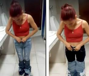 VIDEO: હોંશિયાર મહિલા ઉપરા-ઉપરી 9 જીન્સ પહેરી છૂમંતર થાય એ પહેલા જ ભાંડો ફૂટી ગયો