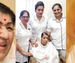 હસતાં-ગાતાં લતા મંગેશકરની હાલત જોઈ કાળજું કંપી ઉઠશે! 28 દિવસ બાદ હોસ્પિટલથી આવી તસવીર