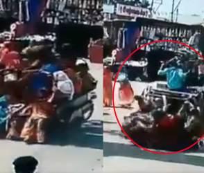 VIDEO: છકડામાં હતી એટલી ખડકાઈ ગઈ, બે સેકન્ડમાં રિક્ષાએ પરચો બતાવી હાલત ટાઈટ કરી નાખી