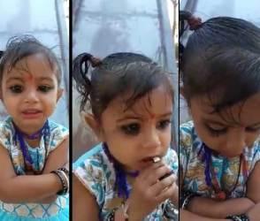 VIDEO: 2 વર્ષની બાળકી પર ગુજરાતની 6 કરોડ જનતા ભાવવિભોર, કોઈ પણ પ્રશ્નના જવાબની ગેરન્ટી