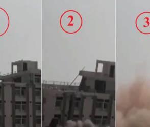 VIDEO: નોટિસ મોકલવા છતાં કોઈ માન્યુું નહીં, 10 સેકન્ડમાં 4 માળની બિલ્ડીંગના ભૂક્કા બોલાવી દીધા