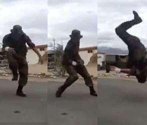 VIDEO: કારગિલના સૈનિકનો જોશ અને ડાન્સ સ્ટેપ જોઈને, ટાઈગર શ્રોફ પણ ટ્રેનિગ લેવા દોટ મુકશે