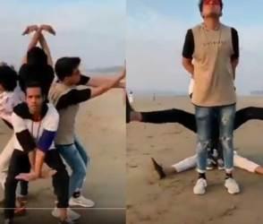 VIDEO: પ્રભુદેવા પણ માથું ખંજવાળે એવો અદ્ભૂત ડાન્સ, 4 યુવકો ઈન્ટરનેટ પર વાવાઝોડું લાવ્યા