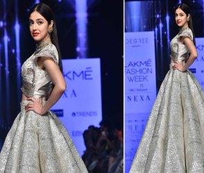 Photos: શિમરી ગાઉન પહેરી રેમ્પ પર ઉતરી આ અભિનેત્રી, દર્શકોને લાગી બાર્બી ડોલ