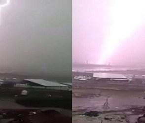 રાજકોટમાં વીજળી પડવાનો આવો ભયાનક Video તમે આજદિન સુધી નહીં જોયો હોય, LIVE દ્રશ્યો કેમેરામાં કેદ