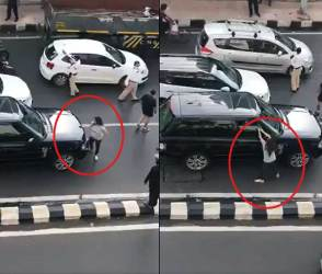 VIDEO: પતિને કારમાં બીજી યુવતી સાથે ઝડપ્યો, પત્નીએ રસ્તા વચ્ચે ધારણ કર્યું અસલી સ્વરૂપ