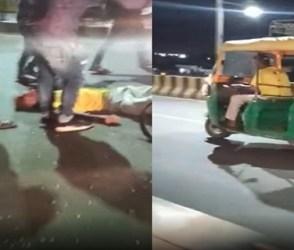 જામનગરમાં રૂવાંટા ઉભા કરી નાંખી હૃદય બંધ કરાવે દે તેવો મોડીરાત્રે થયેલા લાઈવ અકસ્માતનો Video વાયરલ
