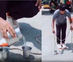 VIDEO: આ છોકરાની કરામત જોઈને અક્ષય કુમાર પણ રાજી થયો, દુનિયાને ફિઝીક્સ સમજાવી દીધું