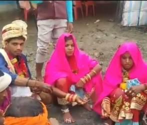 VIDEO: આ જ જોવાનું બાકી હતું, પરિવારે પસંદ કરેલી અને પોતાની ગર્લફ્રેન્ડ બન્ને સાથે ફેરા ફર્યો યુવક