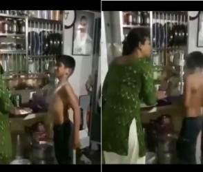 VIDEO: રોટલીના લોટથી બાહુબલી બનવા ગયો આ નવાબ, માતાએ જોરથી એક ઉંધા હાથની દીધી