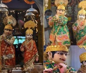 રાધા-કૃષ્ણને રૂ.100 કરોડના હિરા-ઝવેરાતથી સજાવવામાં આવ્યા, જૂઓ PHOTOS