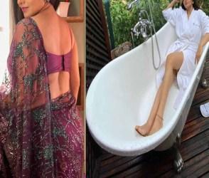 કાયમ સાડીમાં જોવા મળતી અભિનેત્રીએ બાથટબમાં Pics કર્યા શેર, હોટ પોઝ આપી સોશિયલ મીડિયા હચમચાવ્યું