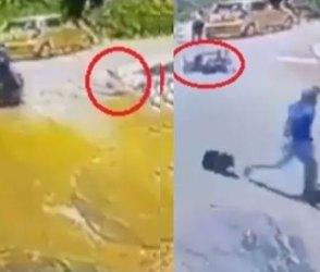 VIDEO: બાઈક પરથી કૂદકો મારીને બચાવ્યો બાળકનો જીવ, લાખો લોકોના આંખમાં આવી ગયા આંસુ