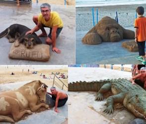 વાહ અદભૂત ! આ વ્યક્તિએ રેતીમાંથી બનાવ્યા જાનવર, જોવા વાળા અસલી સમજી બેઠા