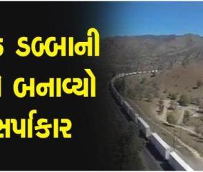 વાહ શું નજારો છે !!! હિન્દુસ્તાનની 135 કોચ વાળી સૌથી લાંબી ટ્રેનનો વીડિયો સોશિયલ મીડિયામાં થયો વાયરલ