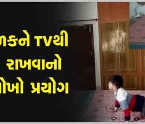 પપ્પાએ દીકરાને TVથી દૂર રાખવા માટે કર્યો જબરદસ્ત જુગાડ, Videoના ચારેકોર વખાણ