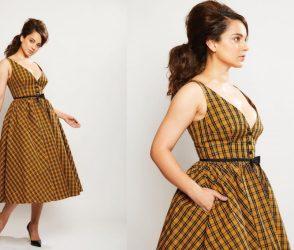 અભિનેત્રી કંગના રનૌતે પહેર્યા એવા કપડા કે લોકોએ અપાવી સંસ્કૃતિની યાદ