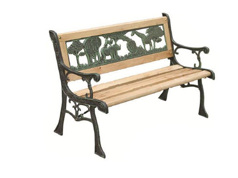 3 Seater Metal Wooden Garden Outdoor Lattice Back Park