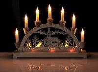 CHRISTMAS 10 LED WOODEN CANDLE BRIDGE LIGHT WINDOW ...