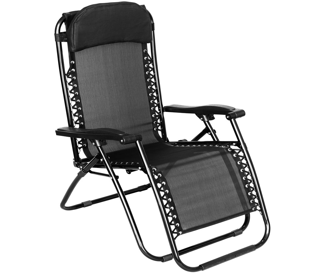 Outdoor Recliner Chair Folding Gravity Sun Lounger Chair Recliner Garden Sun Deck