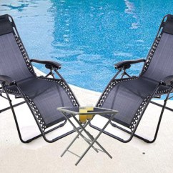 Zero Gravity Chair With Side Table Single Bed Arms New Textoline W Set Garden