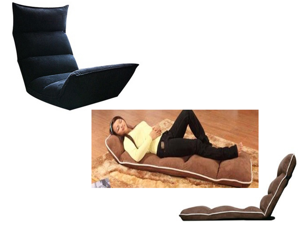 portable sofa chair on or in folding faux suede recliner lounger relaxing