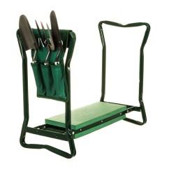 Chair With Kneeler Masoli Cobblestone Swivel 2in1 Folding Portable Garden Foam Seat Knee Pad