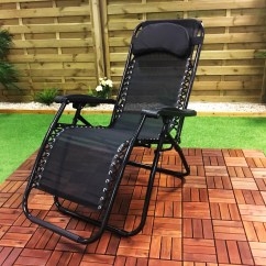 Outdoor Recliner Chairs Uk Glider Swivel Chair Mechanism Folding Gravity Sun Lounger Garden Deck