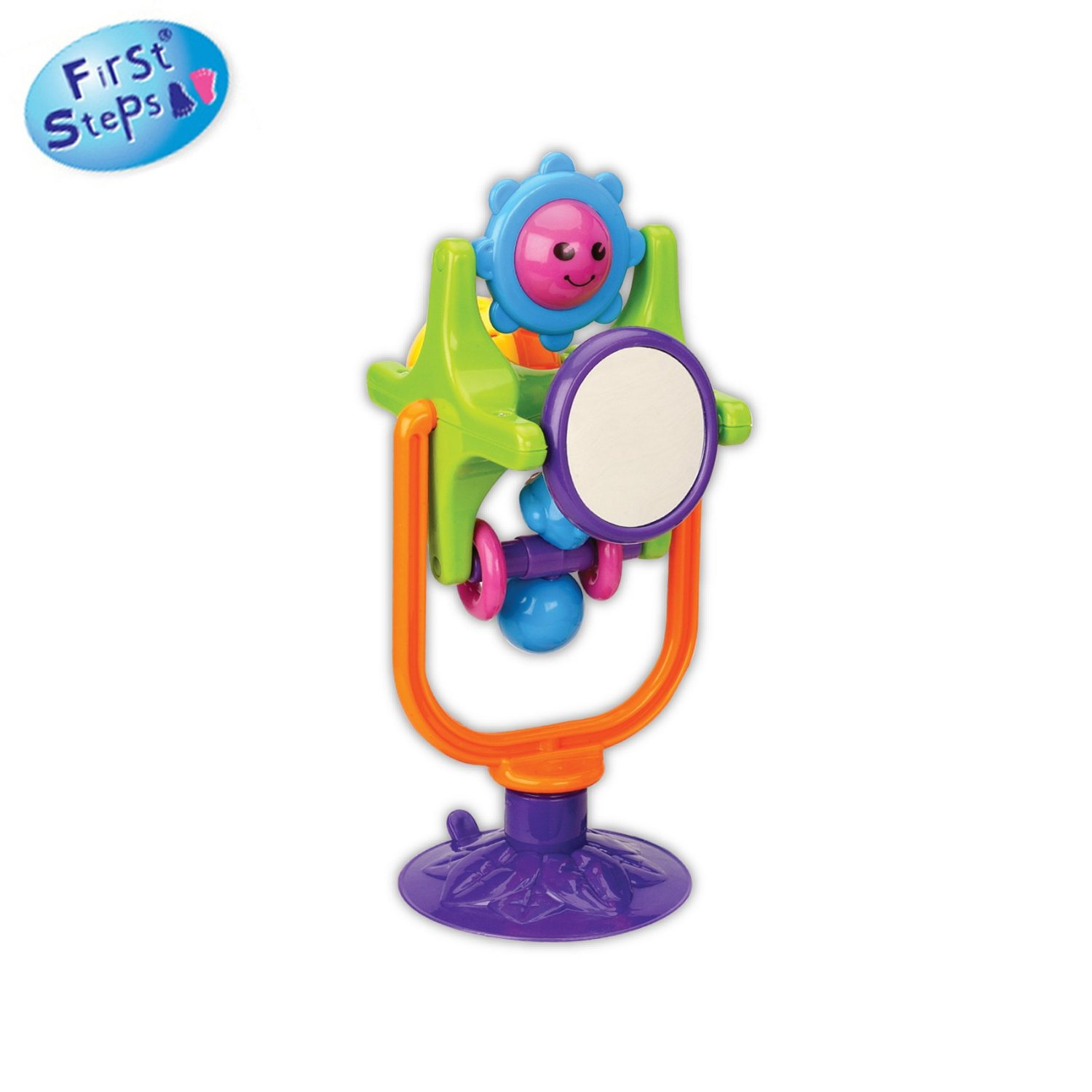 first step high chair cheap patio chairs steps toy with acrobat mirror ball