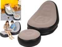 Inflatable Deluxe Lounge Lounger Chair With Ottoman Foot ...