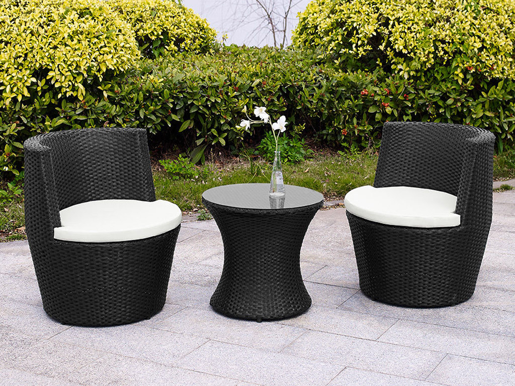 garden egg chair covers best office for spinal fusion verona 3 pc rattan patio furniture vase set table
