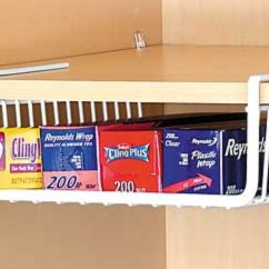 Kitchen Basket Storage Aid Lightweight White Under Shelf Unit