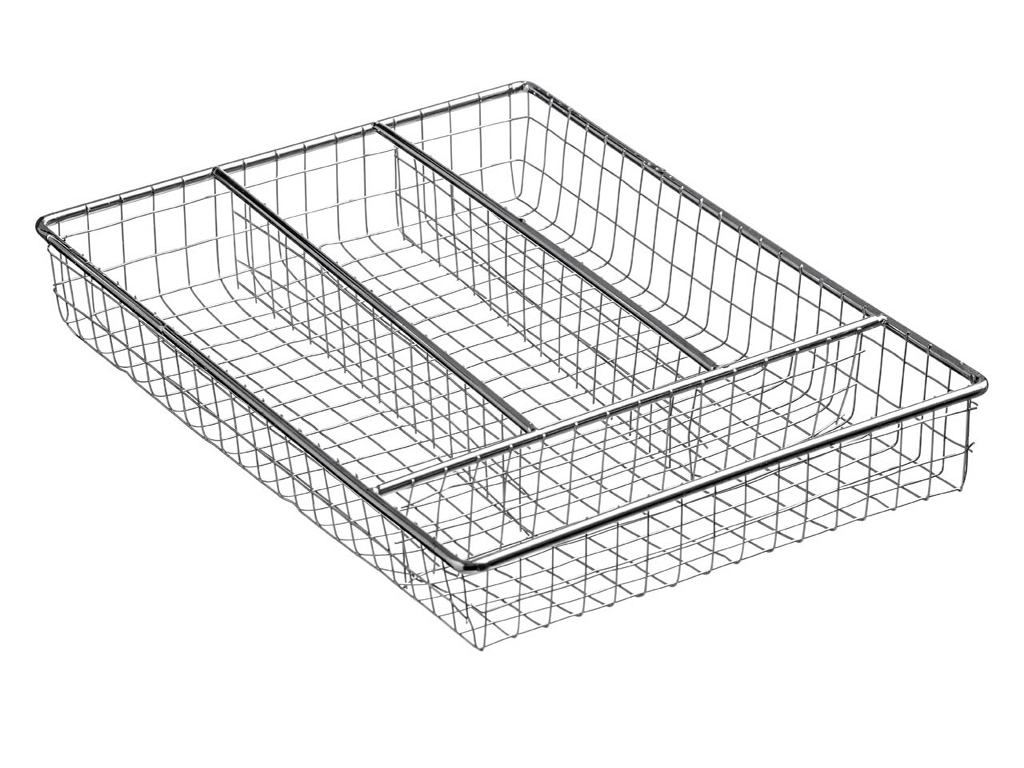 Brand New Chrome Wire Small Cutlery Tray Caddy Kitchen