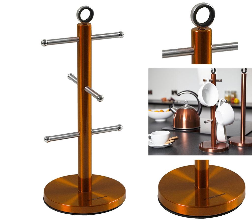copper kitchen utensil holder cabinets with glass morphy richards set bread mug tree