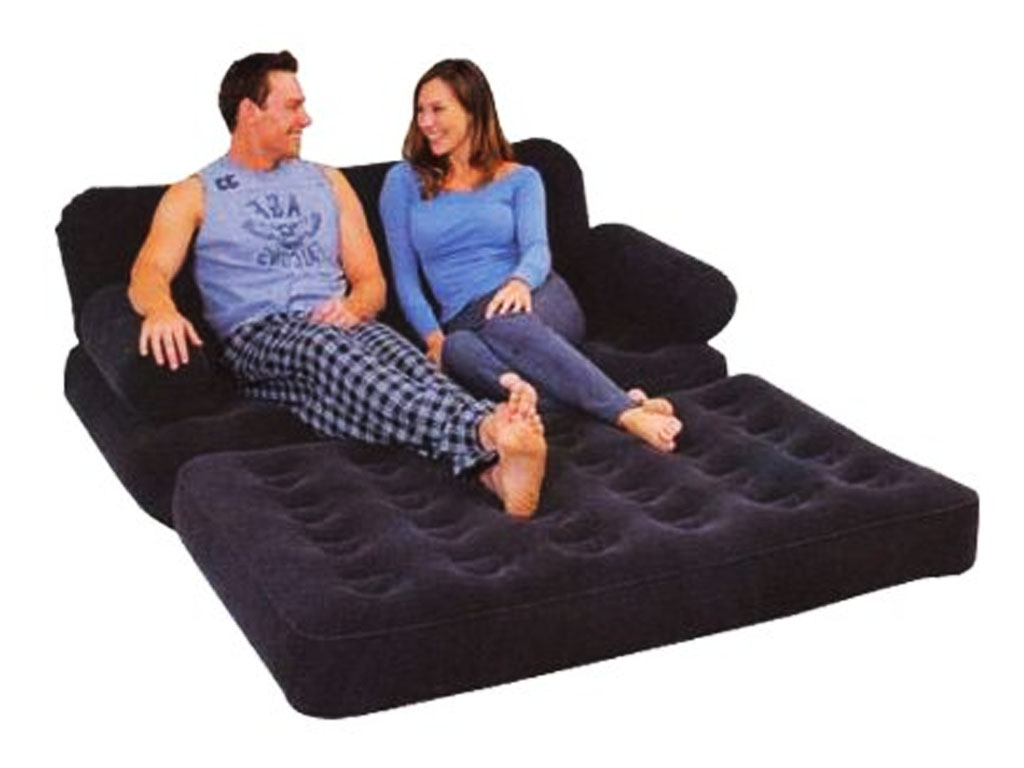 sofa bed bestway 5 in 1 4 seater leather recliner inflatable double flocked couch mattress