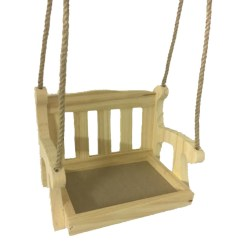 Swing Seats Uk Politics Office Chair Controls Wooden Garden Seat Bird Feeder Hanging Swinging Tree