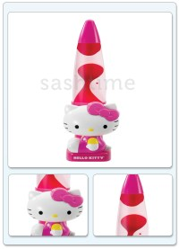 NEW HELLO KITTY SANRIO GIRLS PINK LAVA MOTION GLOW LAMP ...