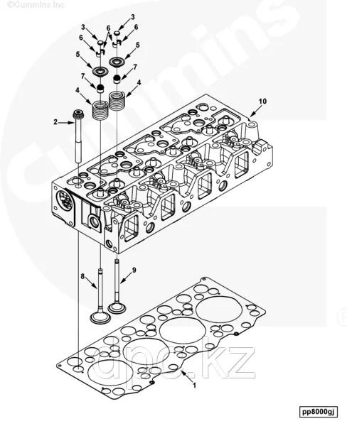 Клапан впускной Cummins B3.3 C6207414130 4982907: продажа