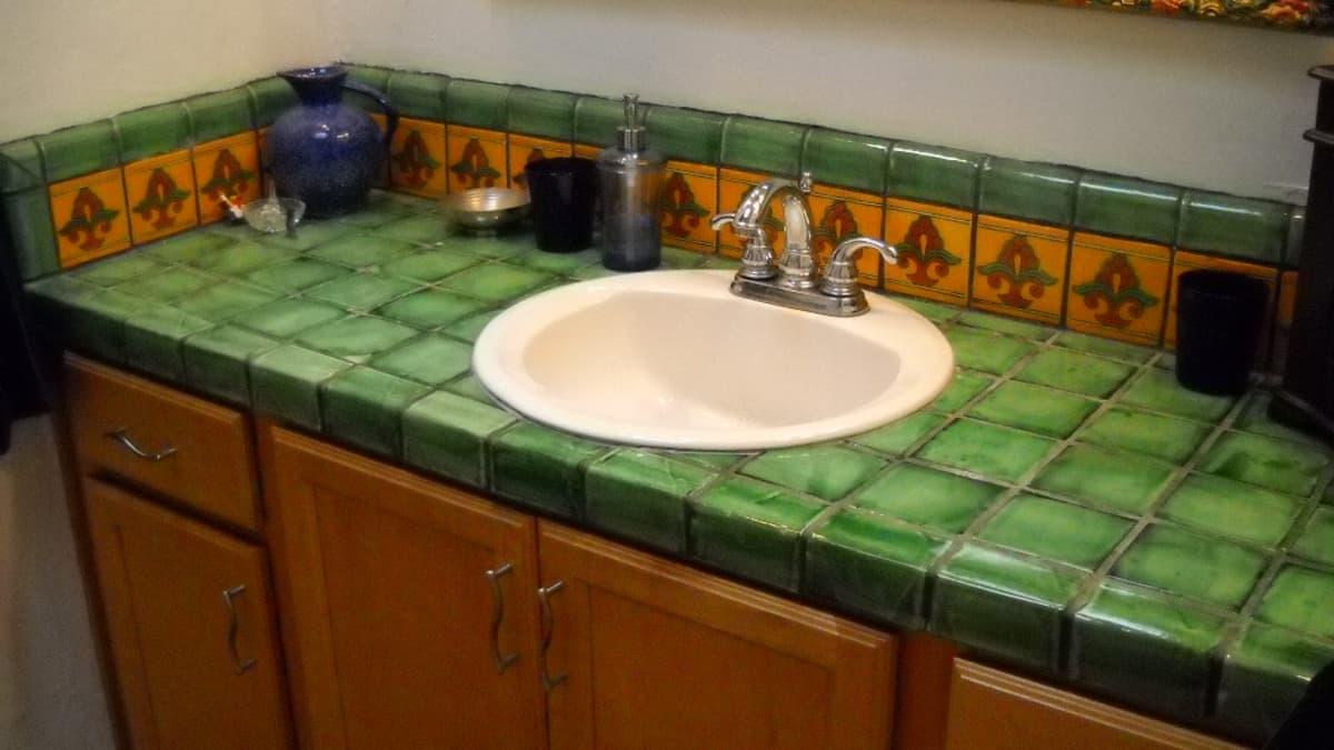 bathrooms using mexican talavera tile