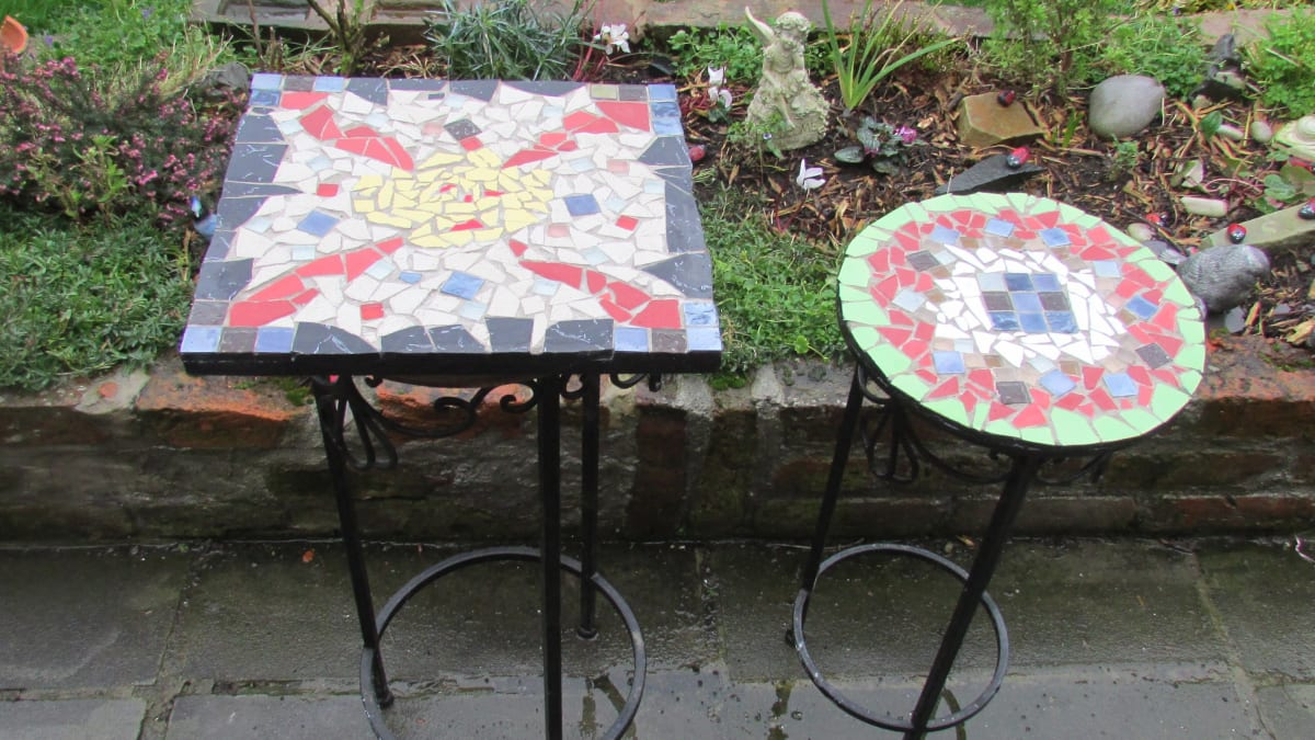 table tops with ceramic tiles