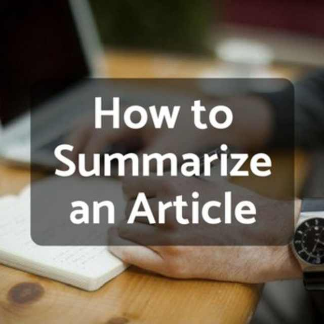 How to Write a Summary of an Article - Owlcation