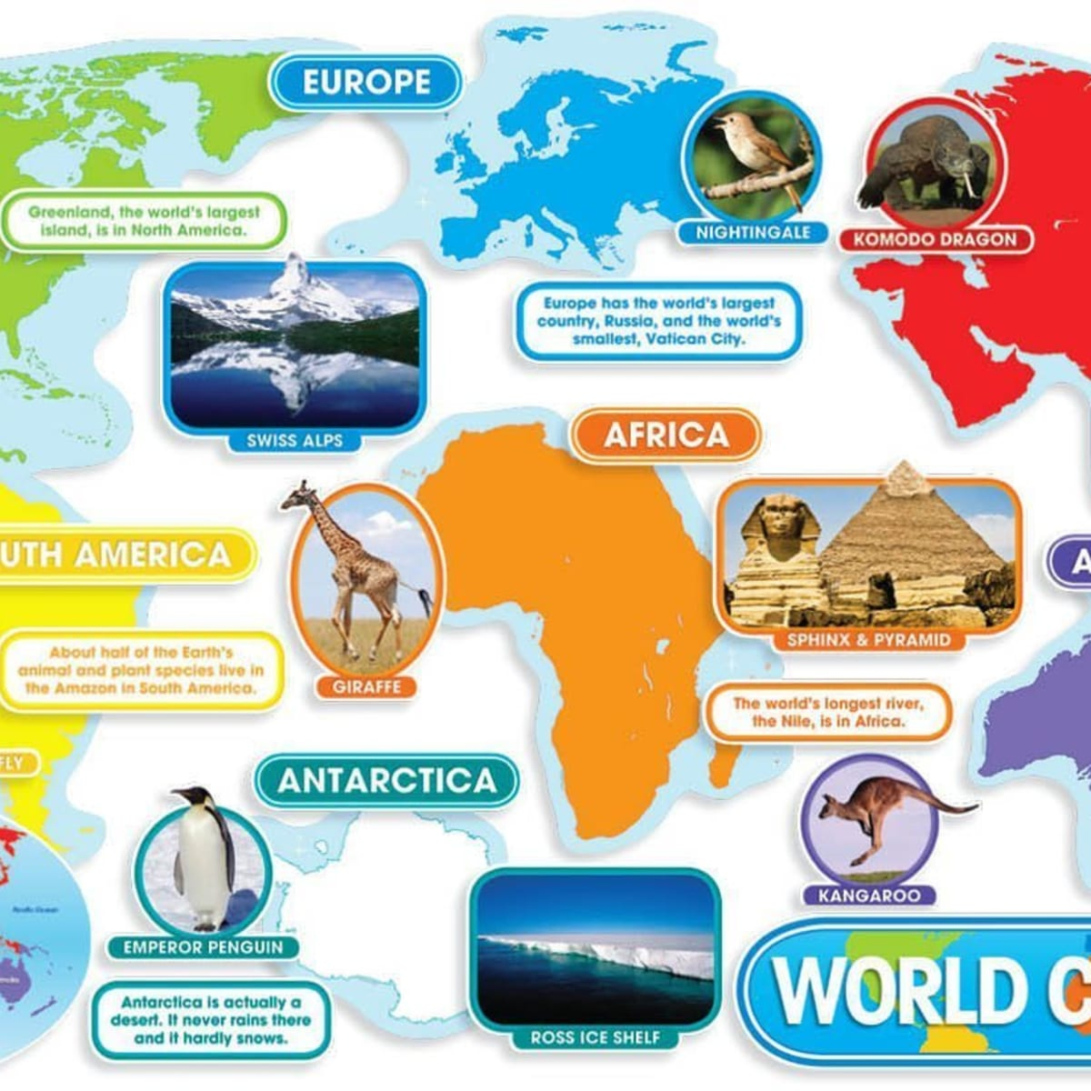 hight resolution of Creative Ways to Teach the Continents - WeHaveKids - Family