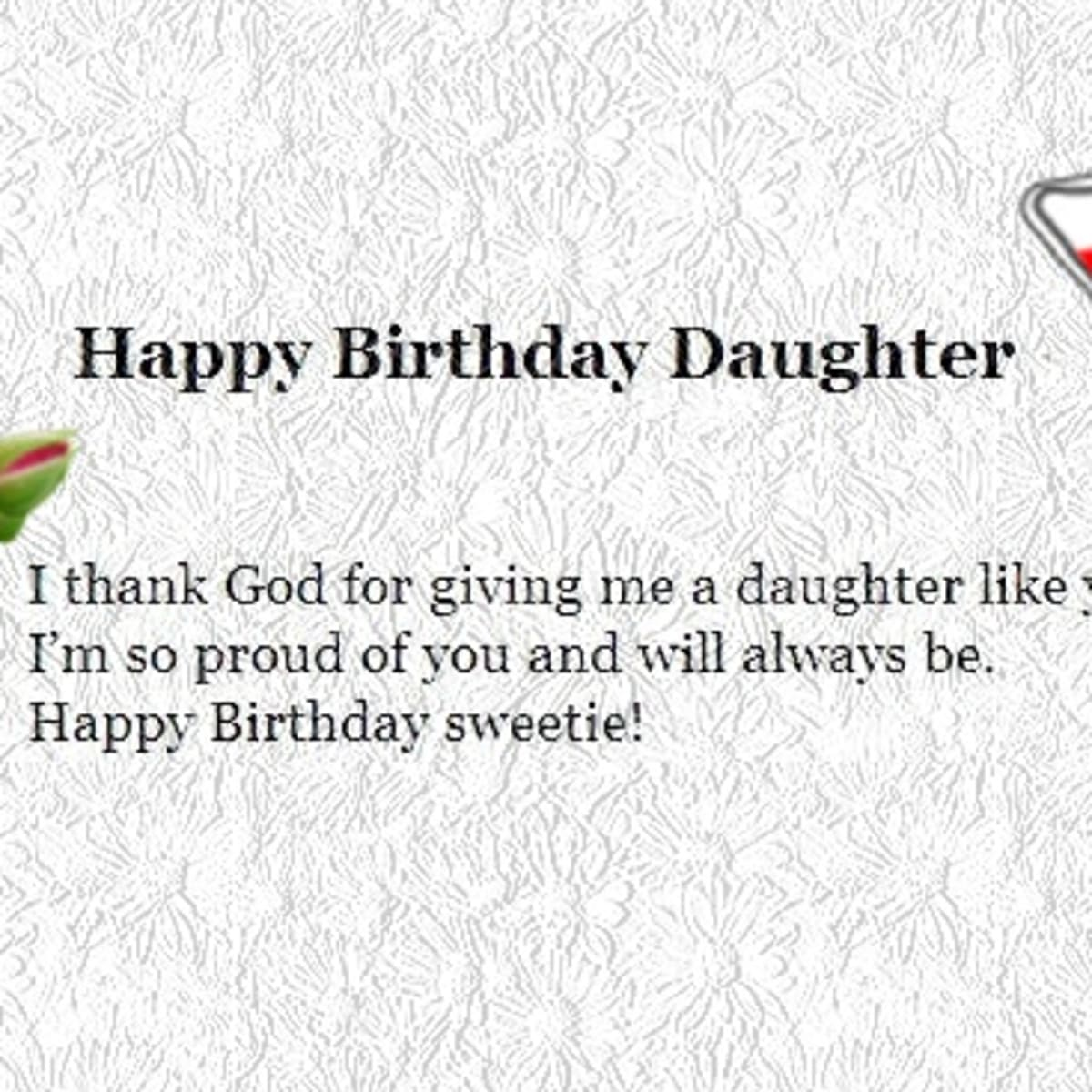 Happy Birthday Wishes To My Daughter From Dad Mom Hubpages