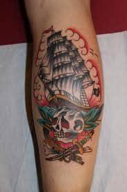 Traditional Ship Tattoos : traditional, tattoos, Tattoos:, Design, Ideas, Meanings, TatRing, Tattoos, Piercings