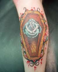 Coffin Tattoo Meaning : coffin, tattoo, meaning, Coffin, Tattoo, Meanings,, Ideas,, Designs, TatRing, Tattoos, Piercings