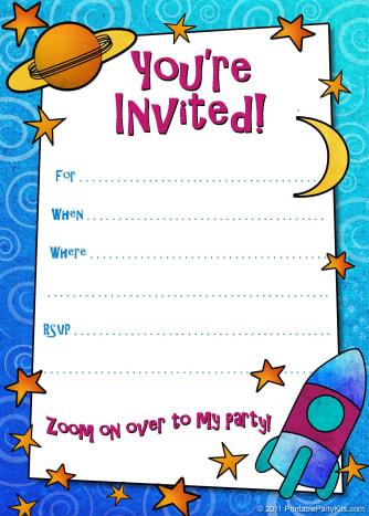 free printable boys birthday party