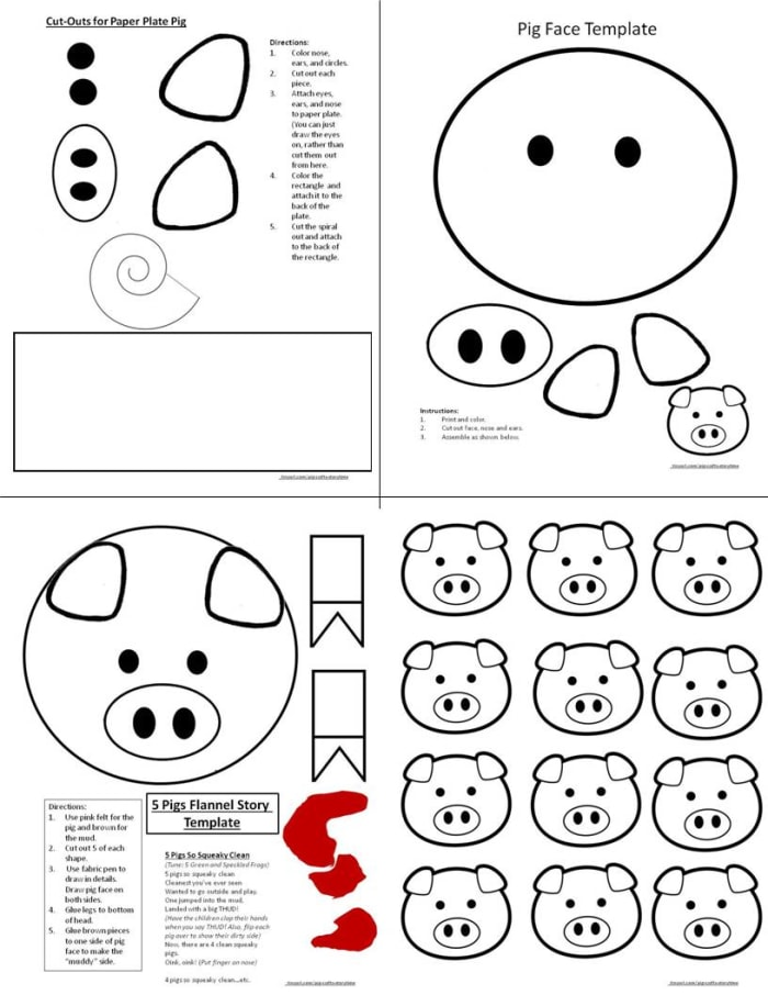 Pig Story Time Theme With Printable Crafts and Flannel